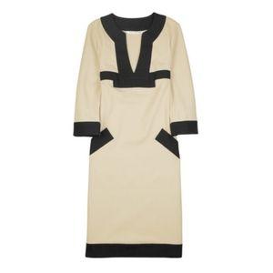 Diane Von Furstenberg Beige Caden Shift Dress 8
